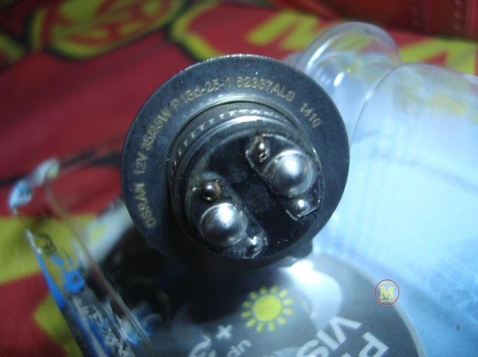 Posisi Sorot Lampu Jupiter MX 135LC Kebalik Pakai Bohlam Osram - Ubah Saja Kabelnya
