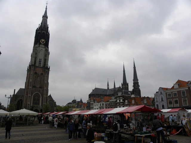 Markt Delft en Stadhuis