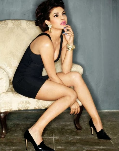 Priyanka Chopra flaunting her legs in mini dress in Maxim Magazine