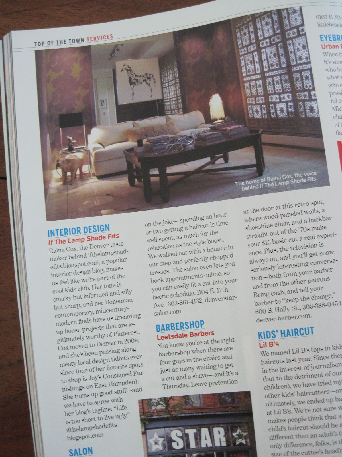 Magazine Names Yours Truly Top Interior Designer With Top Design Blogs.