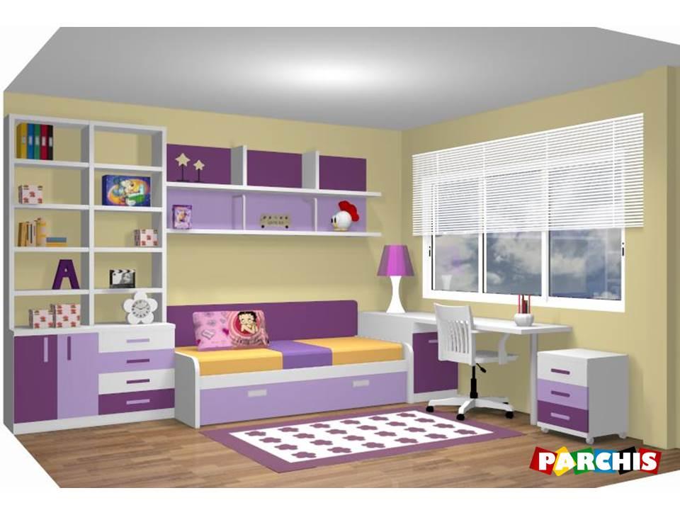 Muebles juveniles dormitorios infantiles y habitaciones for Modelos de puertas para dormitorios