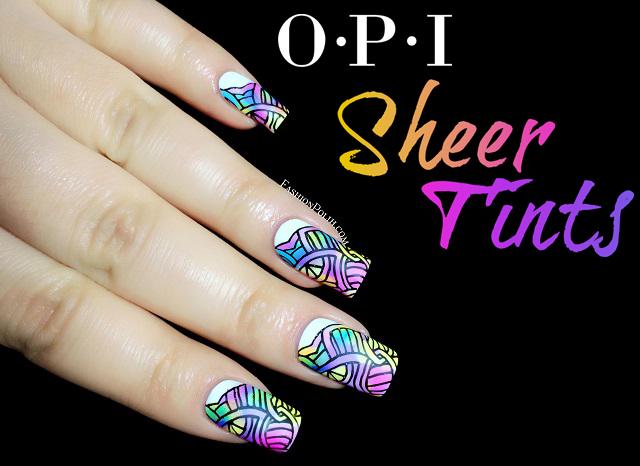 Fashion Polish Opi Sheer Tints Nail Art Leadlight Stamping