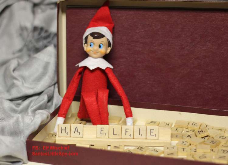 Elf on the Shelf funny hiding idea photo