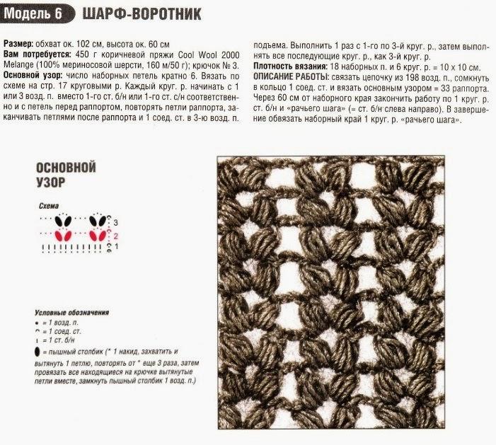 TRICO y CROCHET-madona-mía: Bufanda Circular a Crochet con patrón