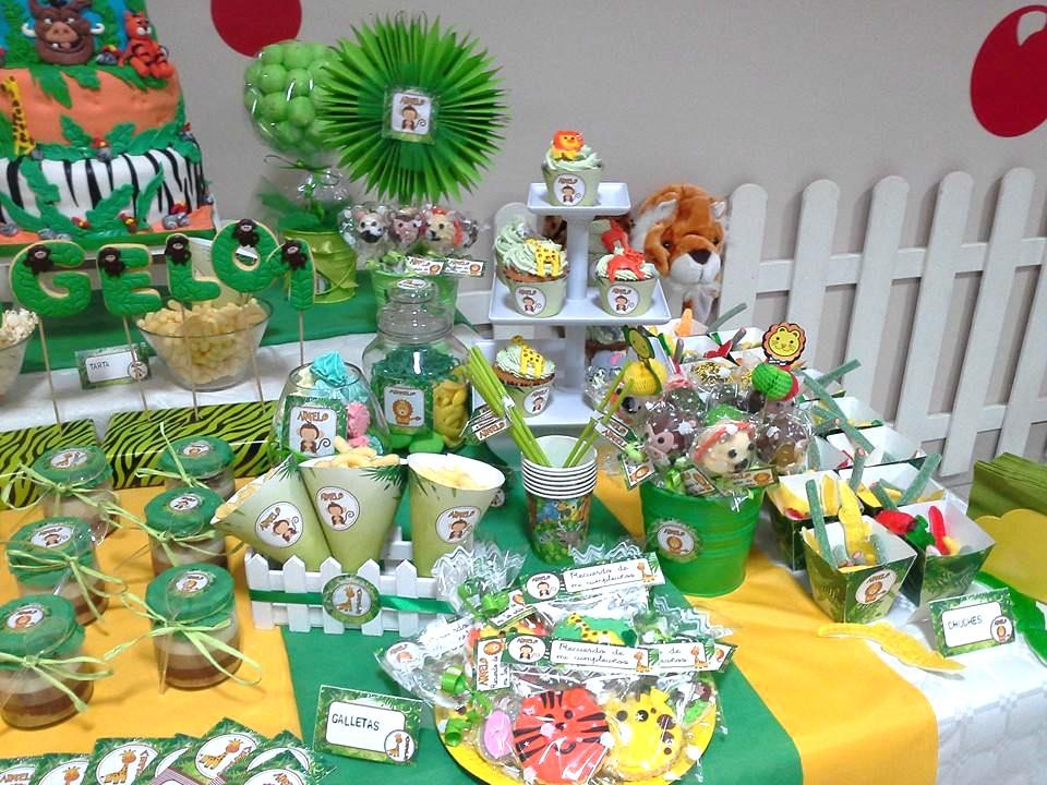 Decoración cumpleaños selva