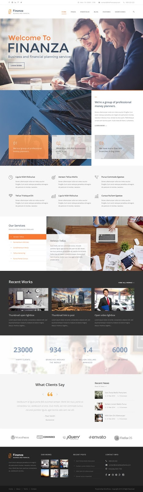Business & Financial WordPress Theme