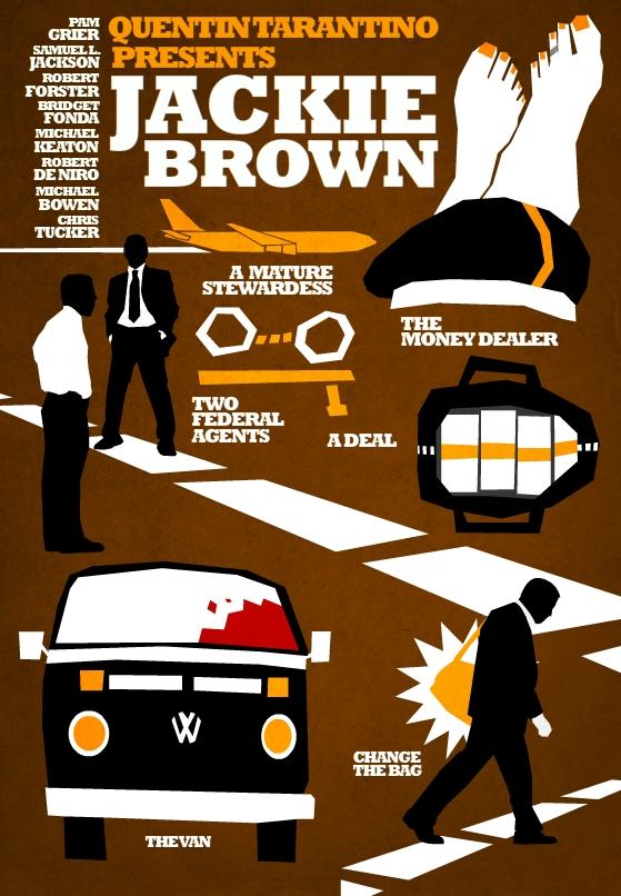 Filmes de Quentin Tarantino - posters de cinema minimalistas - Jackie Brown