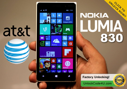 Factory Unlock Code for Lumia 830 from At&T