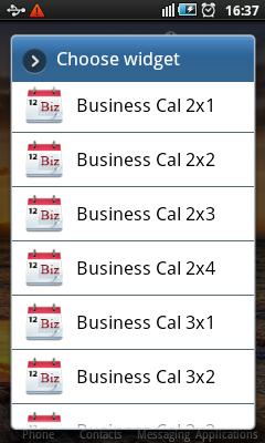 Android Calendar Widgets