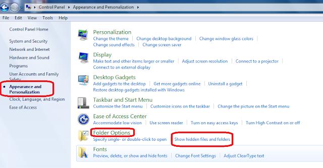 How to View Hidden Files Folder