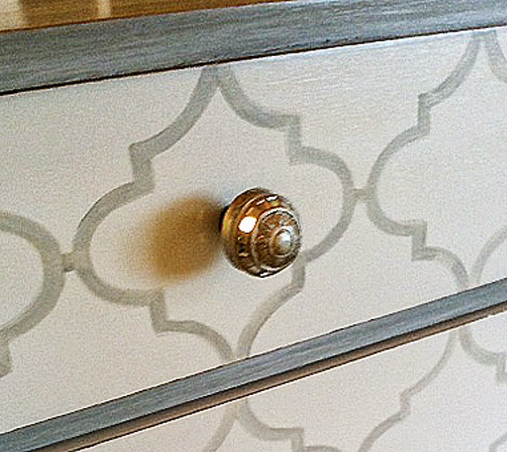 Painted Patterns On Furniture   Quatrefoil And Chevron