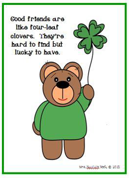 https://www.teacherspayteachers.com/Product/St-Patricks-Day-Free-Friendship-Card-1746248