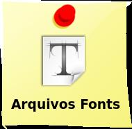 DominioTXT - Arquivos Fonts