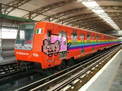 Nyan Cat U-Bahn