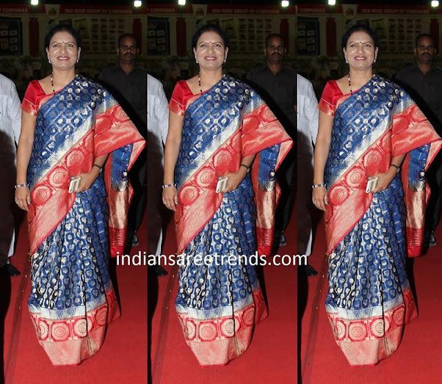 DK Aruna in Kanjeevaram Saree