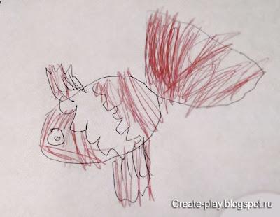 детский рисунок Рыбка