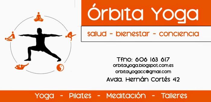 Órbita yoga, centro de yoga en Cáceres