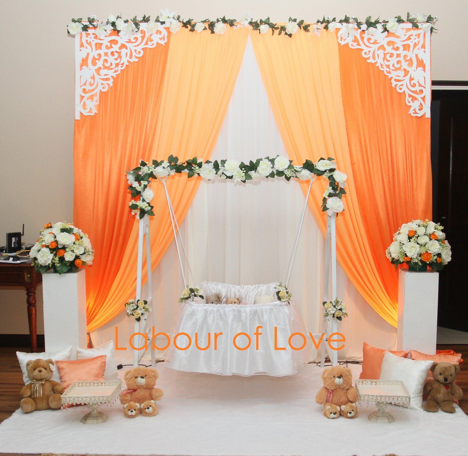 Labour of love majlis aqiqah buai berendoi for baby for Annaprasana decoration