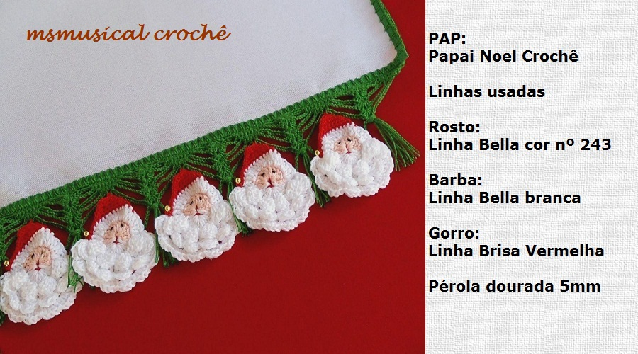 as receitas de croch papai noel de croche