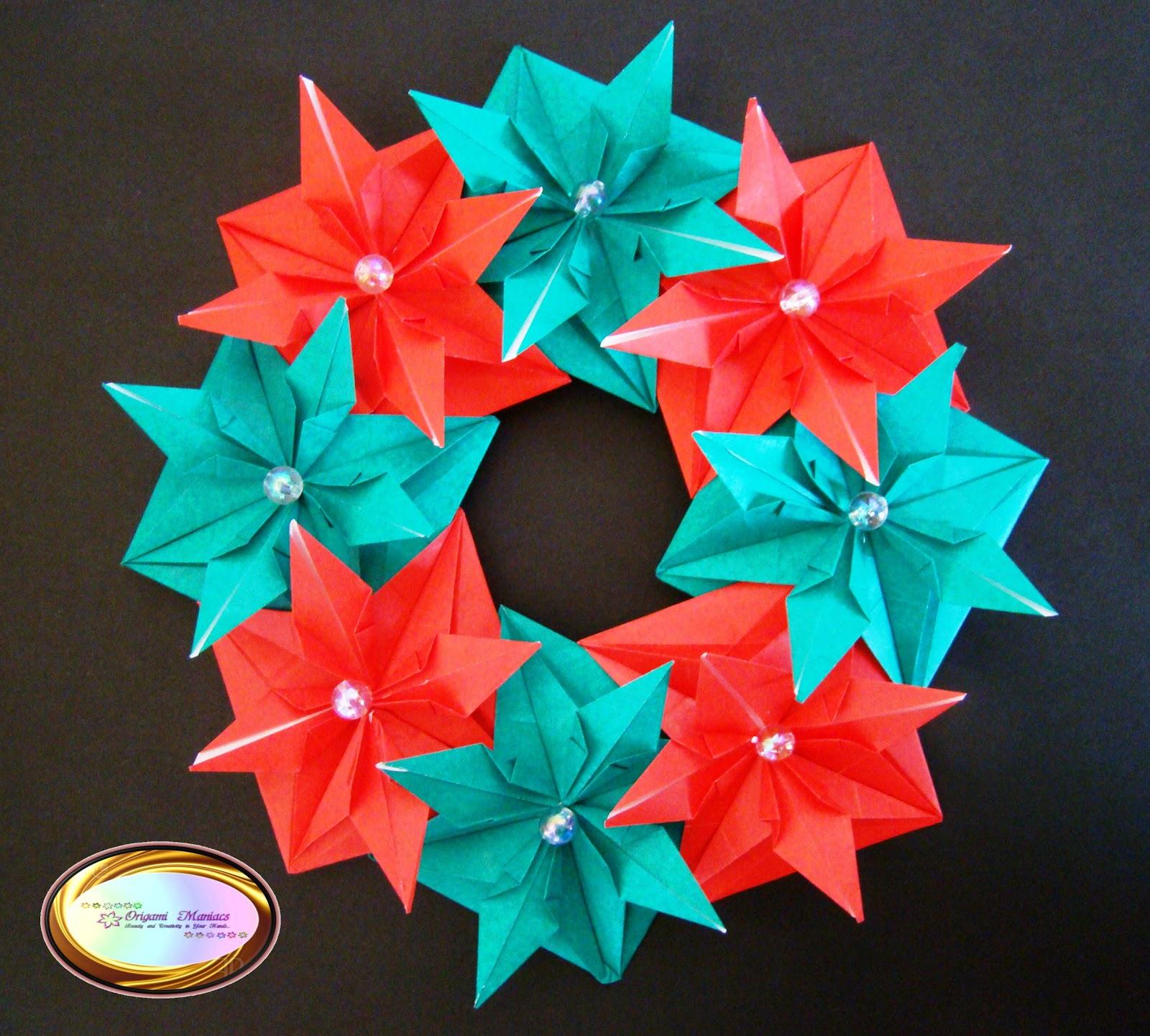 lets make origami beautiful origami christmas wreath