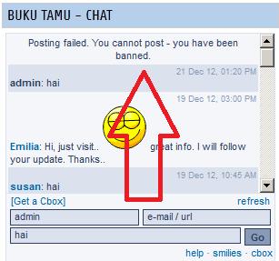 Cara Banned/Blokir IP di Komentar Cbox