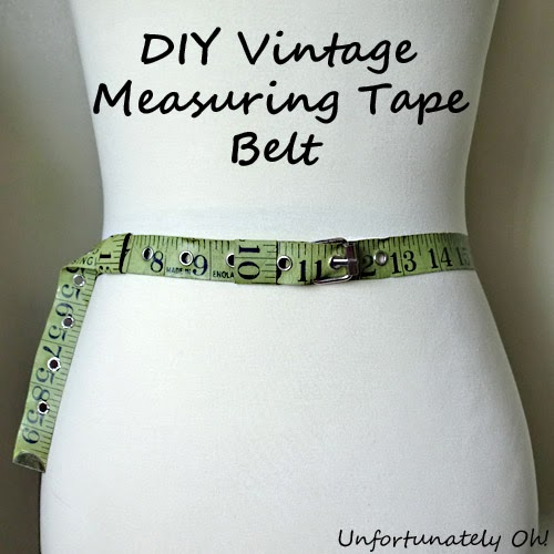vintage measuring tape belt