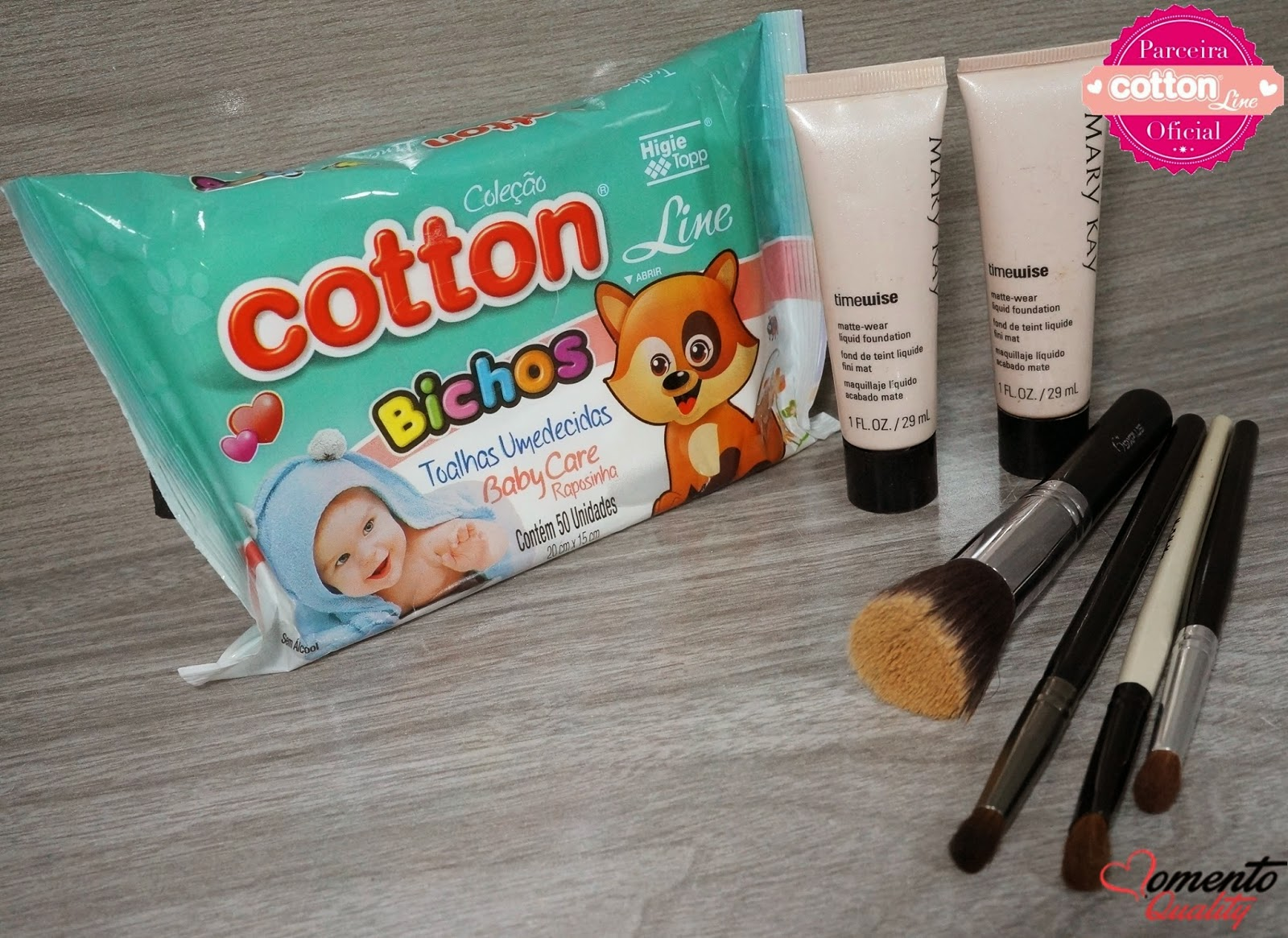 Cotton Line no Curso de Auto Maquiagem