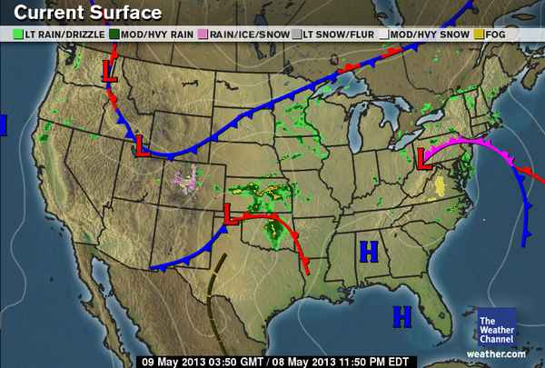 Saras Weather Blog - Weather map of us