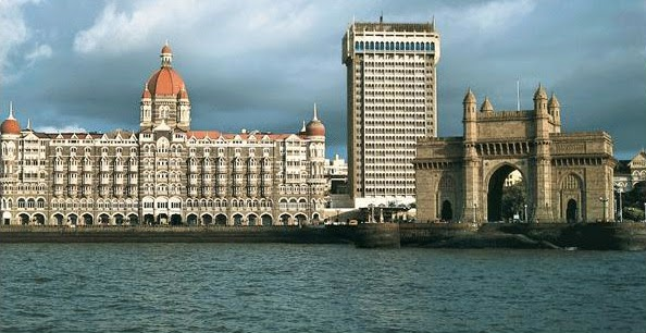 Magnificent view of the Taj Mahal Palace Hotel and its Tower wing