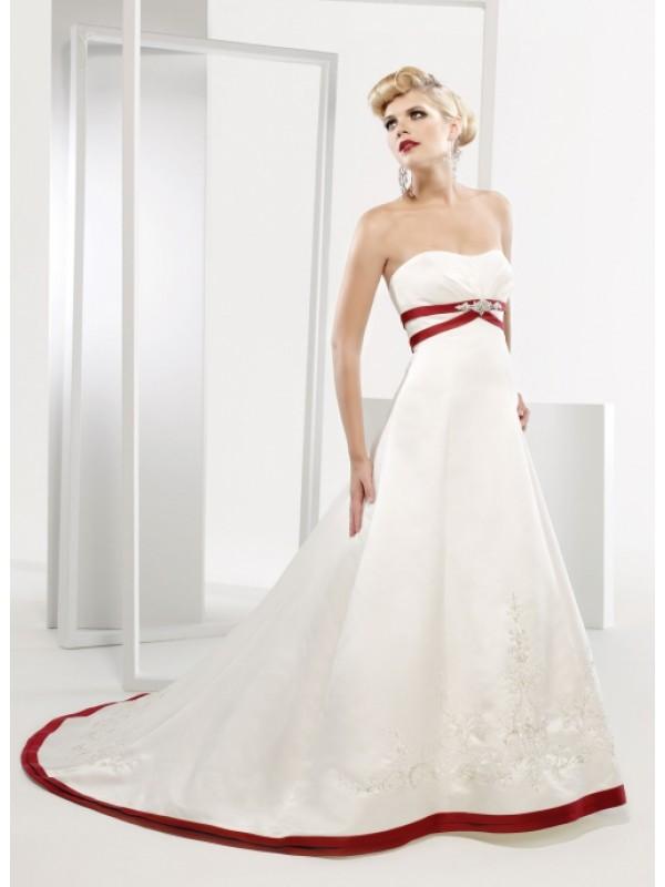 goalpostlk white and red wedding dresses ForRed And White Wedding Dresses 2012