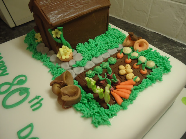 Nana jeannie 39 s cake notes cake note 48 to a father for Gardening 80th birthday cake