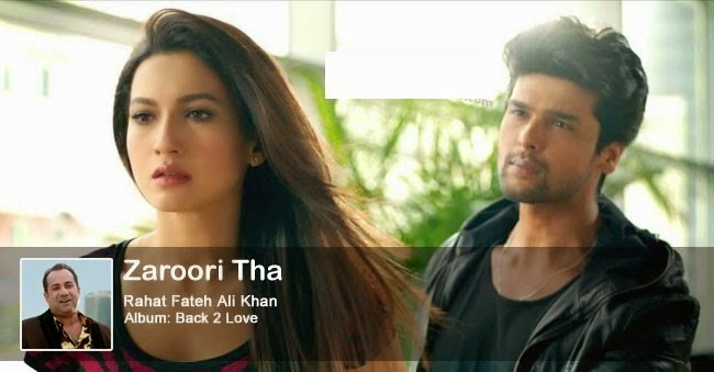 Zaroori Tha Guitar Chords - RFAK - Back 2 Love - Gauhar Khan - Kushal Tandon