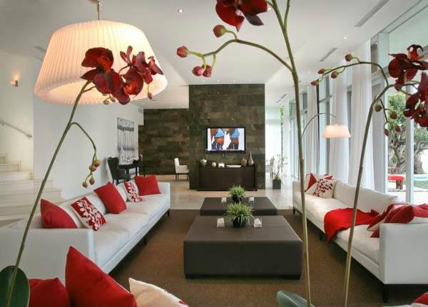Decoracao De Sala Vermelha ~  decorando passo a passo A casa na praia A sala perfeita