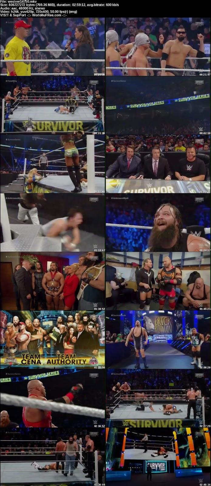 Watch Online WWE Survivor Series (2014) Download Free at moviesmella.com