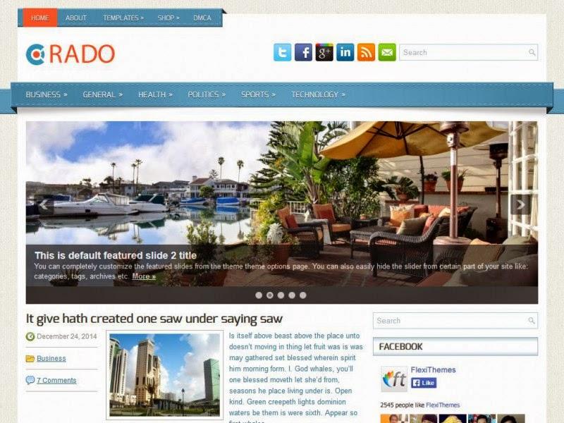 Rado - Free Wordpress Theme
