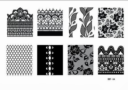 Lacquer Lockdown - stamping, nail art, easy nail art ideas, easy nail art, cute nail art, diy nails, diy nail art, indie plate maker, new stamping plates 2014, new nail art plates 2014, new nail art image plates 2014, new stamping plates, LojaBBF, Loja BBF, full nail images, leaves, flowers, floral, netting, lace, abstract pattersn, sweater patterns, roses, corset nails, Loja BBF 04, BBF 04