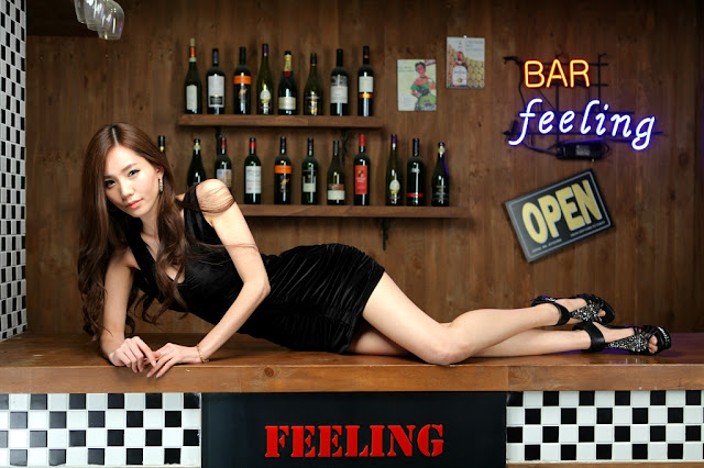 5 Lee Ji Min in Black-very cute asian girl-girlcute4u.blogspot.com
