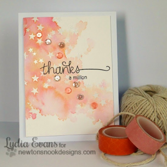 Thanks a Million card by Lydia Evans | Stamps by Newton's Nook Designs