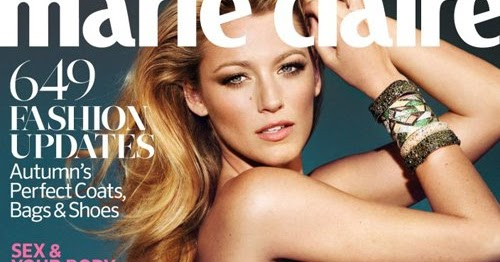 DIARY OF A CLOTHESHORSE: BLAKE LIVELY COVERS MARIE CLAIRE ...