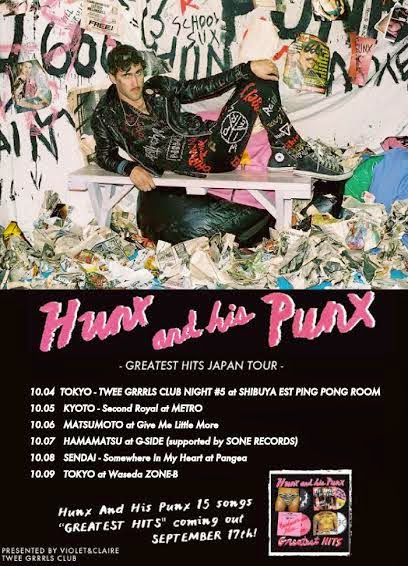 THANK YOU! HUNX AND HIS PUNX JAPAN TOUR PHOTOS 2014