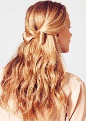 Peinados faciles lazo con pelo natural