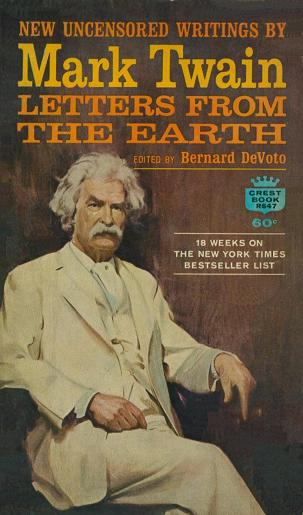 Book Covers: LETTERS FROM THE EARTH by Mark Twain