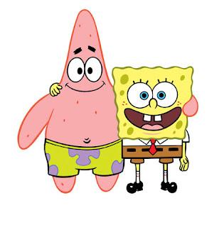 foto gambar patrick star dan kartun spongebob