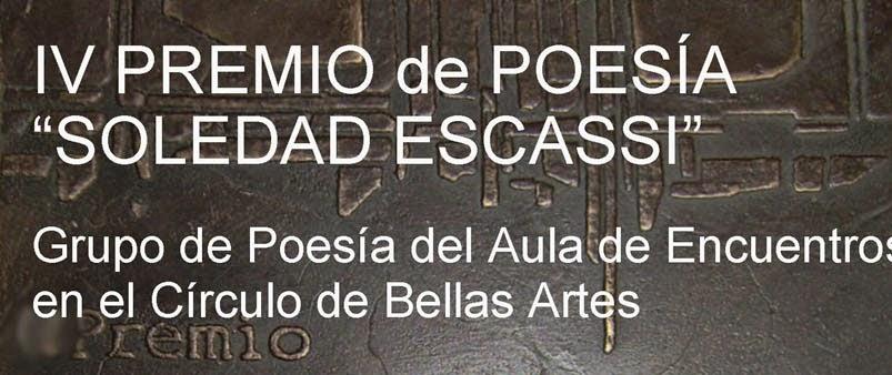 """Premio de Poesía """"Soledad Escassi"""""""