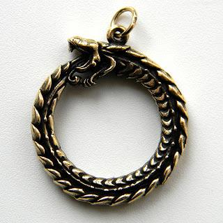 кулон уроборос змей купить бронза латунь украина глюкоморье
