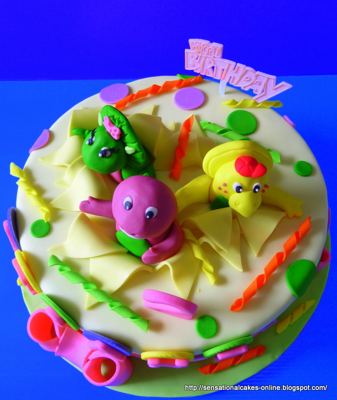 Cake Inspiration New Barney 3d Cake Singapore Friends Happy