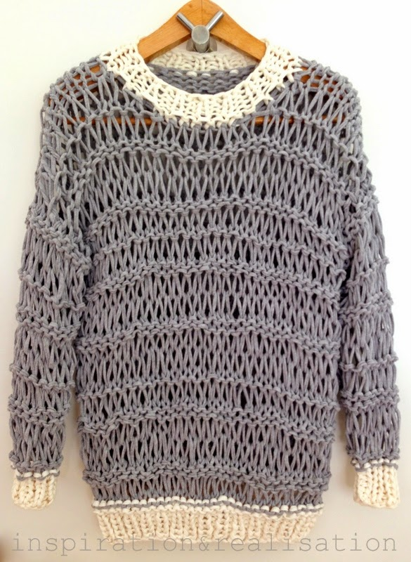 Knitted Shirt Pattern : inspiration and realisation: DIY fashion blog: DIY open knit sweater with t-s...