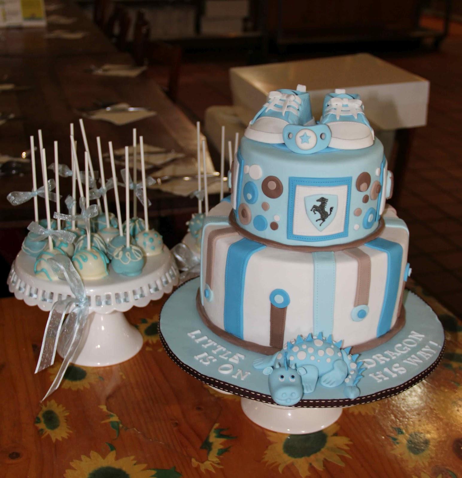 bakerz dad sporty dragon baby shower cake