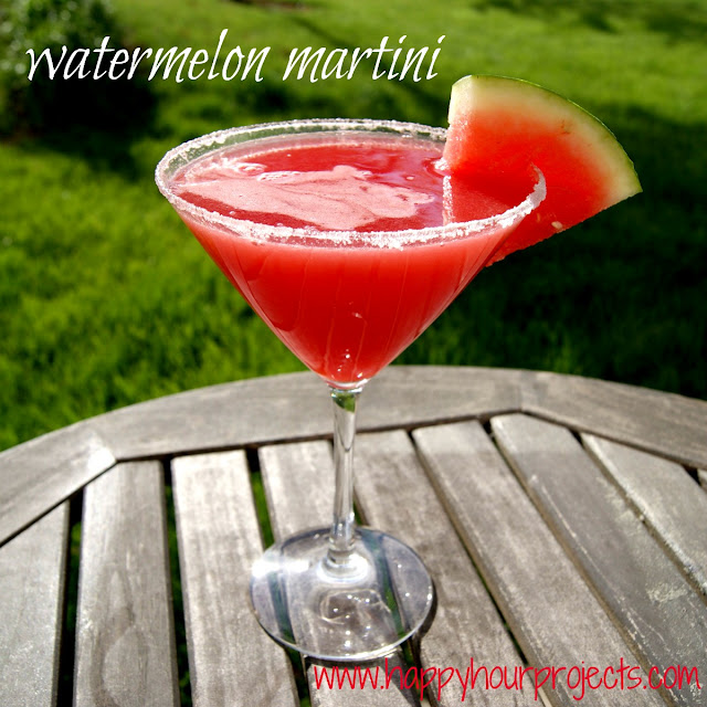 Watermelon Martini - Happy Hour Projects