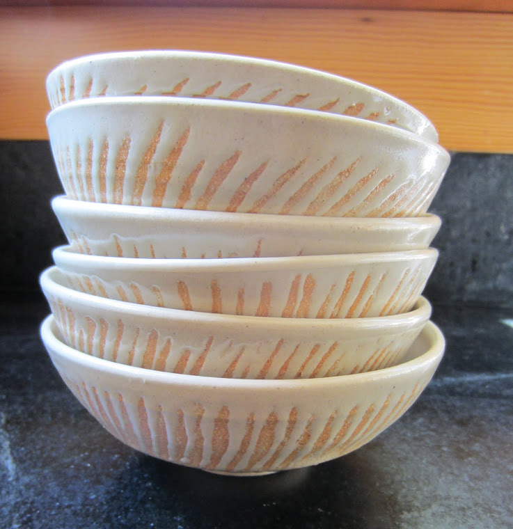 White Bowls with wax resist